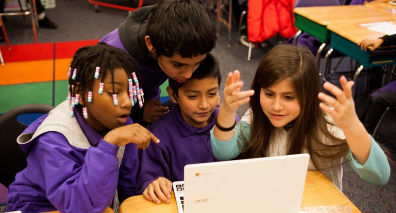 Aspire Charter School Students at a Computer